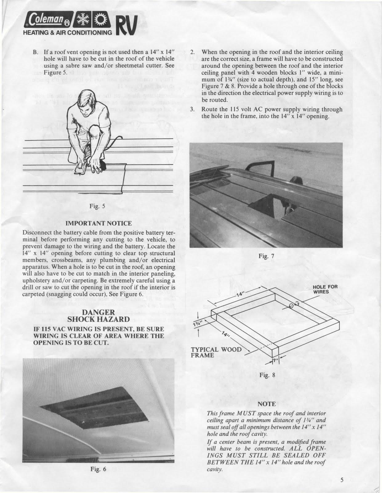 coleman mach air conditioner wiring diagram astra g radio 8 rv installation html